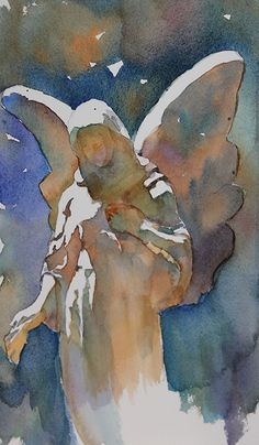 Bronwen Jones - Watch over Me- Watercolor - Painting entry - March 2015 | BoldBrush Painting Competition