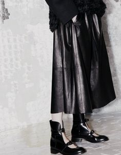leather circle skirt...acne=pre-fall 2013