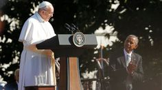Pope Francis thanked his hosts at the White House this morning and hit on some controversial topics that included confronting climate change and mending broken relationships around the world. Here is the full text of the pope's speech: Mr. President, I am deeply grateful for your welcome...