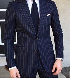 Love a pinstriped suit!♡ | Men's Fashion