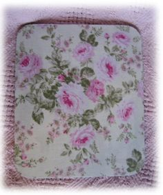 Cottage Pink Roses Fabric Mouse pad-Shabby Chic,Cottage Style,Cottage Chic,Romantic Decor,Romantic Chic, Mouse pads,MousePads,Beach Cottage, Office Decor,roses,pink