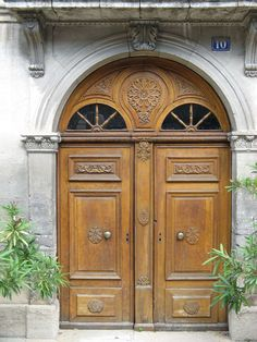 What a dream to have doors like this.