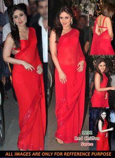 Kareen_Kapoor_Red_Saree