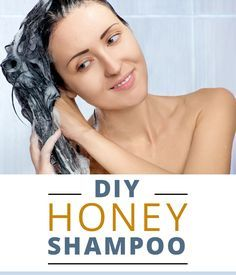 Ditch the chemicals! This DIY honey shampoo leaves hair shiny and smelling great. #DIY