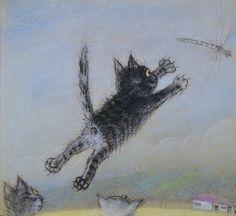 Uit: Kattekwaad van Jozef en Piotr Wilkon