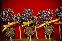 Love this idea!  These are some of the Best of the Best Marine Corps Cakes from  around the net.