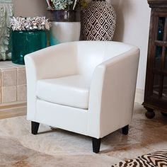 Amazon.com: Petaluma Oxblood Red Leather Club Chair: Kitchen & Dining