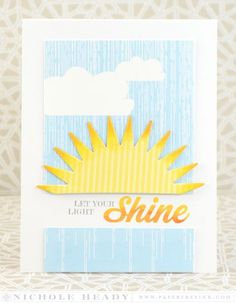 Let Your Light Shine Card by Nichole Heady for Papertrey Ink (July 2015)