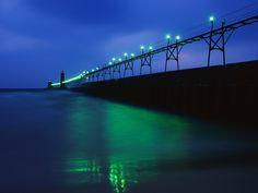 Grand Haven Pier, Lake Michigan, Michigan