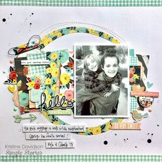 Hello Springtime - Simple Stories - Welcome Spring Collection Pocket Page Scrapbooking, 12x12 Scrapbook, Scrapbooking Layouts, Hip Kit Club, Welcome Spring, Simple Stories, Spring Fever, Hello Spring, Layout Inspiration