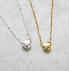Set of 3 Best Friend Necklaces 3 bff Necklaces Dainty Floating Heart Necklaces