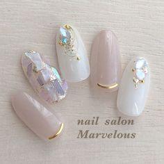 Korean Nail Art, Korean Nails, Japanese Nail Design, Japanese Nail Art, Stylish Nails, Trendy Nails, Asian Nails, Kawaii Nails, Bride Nails
