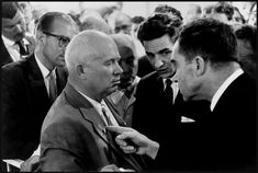USSR. Moscow. 1959. Nikita KHRUSHCHEV and Richard NIXON.  Magnum Photos Photographer Portfolio