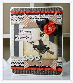 vintage style Halloween Greeting Card flapper witch by PollysPaper, $7.00