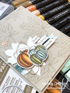Stampin' UP! Gather Together – Luvin Stampin Artsy Fartsy Card feat. Stampin' UP! Gather Together – Luvin Stampin Beautiful Handmade Cards, Sympathy Cards, Greeting Cards, Thanksgiving Cards, Fall Cards, Halloween Cards, Creative Cards, Homemade Cards, Stampin Up Cards