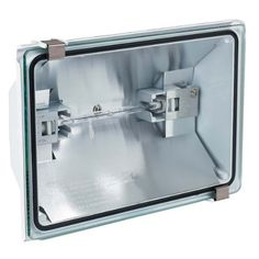 Globe Electric 60522 500-Watt Outdoor Halogen Security Light Fixture, White by Globe Electric. $13.99. This security flood light is an inexpensive way to light up dark areas outside your home or business. They can be easily mounted in a parking lot, driveway, basketball court, summer cottage or barn. It covers a 6,000 square foot range. A 500W halogen bulb is included.