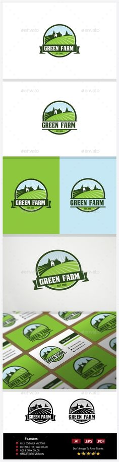Green Farm — Vector EPS #farming #healthy • Available here → https://graphicriver.net/item/green-farm/10774325?ref=pxcr