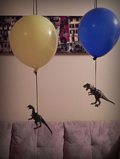 Dinovember Day 1 surprise floating dinosaurs in her bedroom Dinosaur Birthday Party, Unicorn Party, Minion Party, The Good Dinosaur, Origami, Kids Corner, T Rex, Baby Boy Shower, Wall Collage