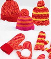 Ravelry: Crochet Hat & Mitts (Mitts) pattern by Joyce Nordstrom Single Crochet, Crochet Baby, Knit Crochet, Ravelry Crochet, Crochet Gloves, Crochet Scarves, Wrist Warmers, Hand Warmers, Blue Mittens