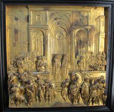 Lorenzo Ghiberti Incontro di Salomone e la regina di Samo Porta del Paradiso 1425-1445 Firenze