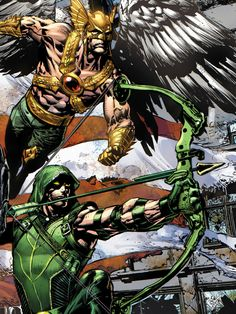 Hawkman and Green Arrow