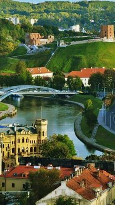 The beautiful, green Vilnius, Lithuania