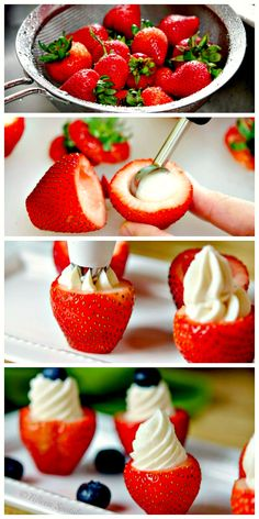 These Cheesecake Stuffed Strawberries make for a delicious and super easy summer dessert!