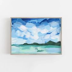 Tropical Landscape Turquoise Mint Water Wall Art Print or Canvas – Jetty Home