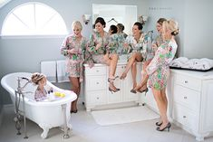 How fun is this photo op of all the girls hanging out before the wedding (including the little one!!) Love it! Check out Kristen Weaver's Blog for more pics :)