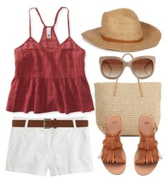 """""""White Shorts (Outfit Only) 1483"""" by boxthoughts ❤ liked on Polyvore featuring J.Crew, Dorothy Perkins, Aéropostale, Target and STELLA McCARTNEY"""