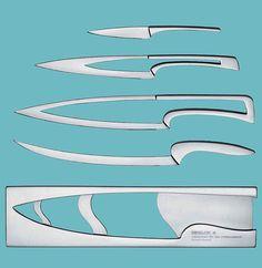 Deglon Meeting Knife Set by Mia Schmallenback: Nesting knives via cubeme #Knives #MIa_Schmallenback