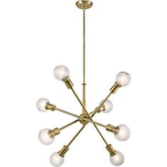 armstrong-8-light-chandelier-brass.png (1200×1200) ❤ liked on Polyvore featuring home, lighting, ceiling lights, brass hanging lamp, solid brass lamps, 8 arm chandelier, brass chandelier and solid brass chandelier