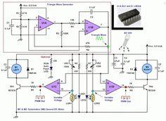 Circuit Diagram 4U: Line Follower Robotic With Quad Op-Amp LM324