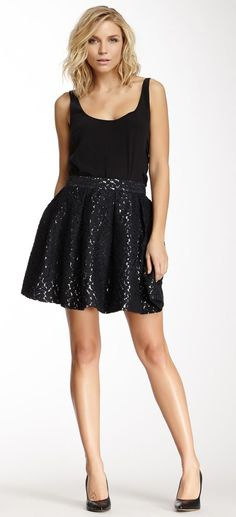 Elizabeth & James Patricia Lace Skater Beautiful skirt normal length t