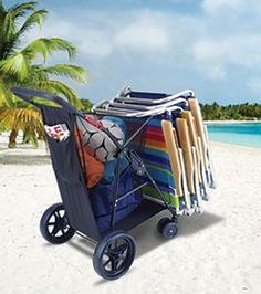 Rio Brands Wonder Wheeler Plus Beach Cart @Rio Brands