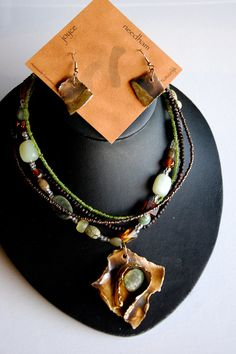 Multi Strand Beaded Porcelain Jewellery Set With Semi Precious Stone Via Etsy Joyce Needham Is Perfect For Gifts