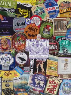 Beer label collage...made for my sweetie's man cave