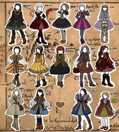 Female versions of Thorin, Kili, Fili, Ori, Nori, Dori, Oin, Gloin, Bifur, Bofur, Bomber, Dwalin, Balin and bilbo