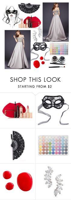 """Masquerade Ball"" by anastasiashoup on Polyvore featuring Masquerade, Charlotte Tilbury, Chicnova Fashion and Lola James Jewelry"