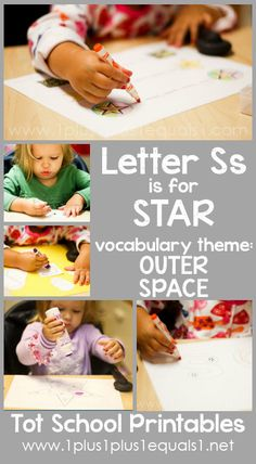 Tot School Printables Letter S is for Star {free} from Letter S Activities, Preschool Letters, Learning Letters, Preschool Kindergarten, Toddler Activities, Lesson Plans For Toddlers, Letter Of The Week, Tot School, Early Literacy