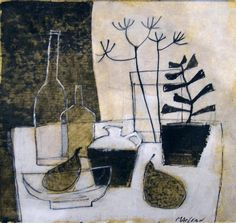Donald MacLean Pears on the table