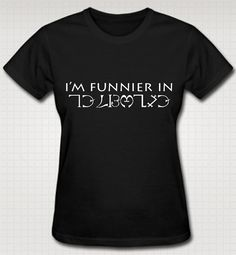 Supernatural I'm Funnier In Enochian TShirt XS S by HuntersApparel, $25.00