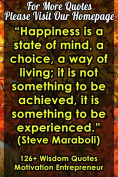 """Happiness is a state of mind, a choice, a way of living; it is not something to be achieved, it is something to be experienced. For more Wisdom Quotes Motivation Entrepreneur, please visit our homepage. I Think Of You, I Miss You, Get Free Music, Quotes Motivation, Wisdom Quotes, Entrepreneur, Motivational Quotes, Mindfulness, Happiness"