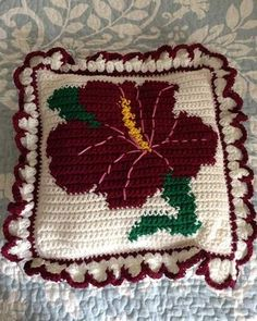 Hummers and Hibiscus Afghan and Pillows Crochet Pattern