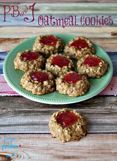 Are you in need of a cookie fix? If so, you'll love these PB&J Oatmeal Cookies!    With just 4 ingredients you can whip up these healthy and super kid-friendly treats for the kiddos in your life.    Make these for an after school snack or