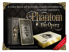 The Phantom of the Opera Playing Cards by stardustudio on Etsy