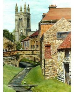 "Chris Voas (@chrisvoas_art): ""Helmsley, North Yorkshire"