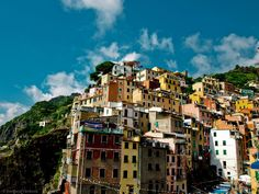 103 Of The Most Stunning Cliff-Side Towns And Villages Abstract City, Riomaggiore, Watercolour Tutorials, Cinque Terre, Stunning View, Natural World, Scenery, Cliff, Landscapes