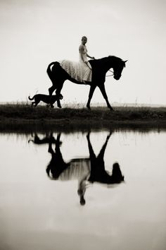 I always feel like a princess in a long flowing gown when I am riding a horse!  :)