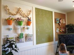Giant organization board for a play room